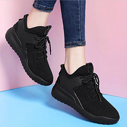 para tamaño Deporte Color Zapatillas Zapatillas Verano Casuales Zapatos de de Mujeres Negro Zapatos Primavera en 34 Running otoño qE5w5Aa