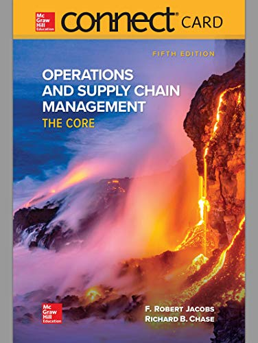 Connect Access Card for Operations and Supply Chain Management: The Core (Operations And Supply Chain Management The Core)