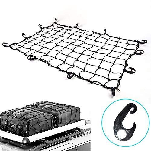 3' x 4' to 6 'x 8' Latex Cargo Net with 22 Nylon Hooks, 3.2