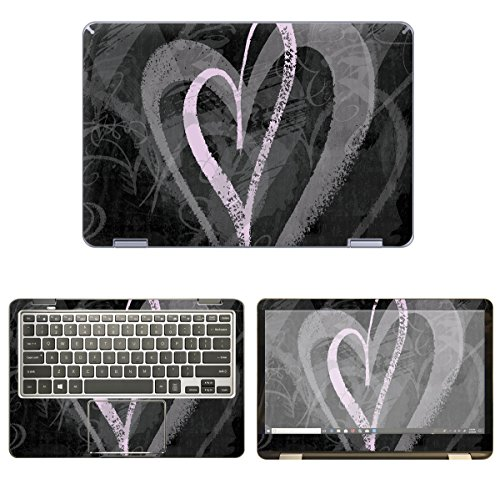 (decalrus - Protective Decal Heart Skin Sticker for Samsung Notebook 7 Spin NP730QAA (13.3