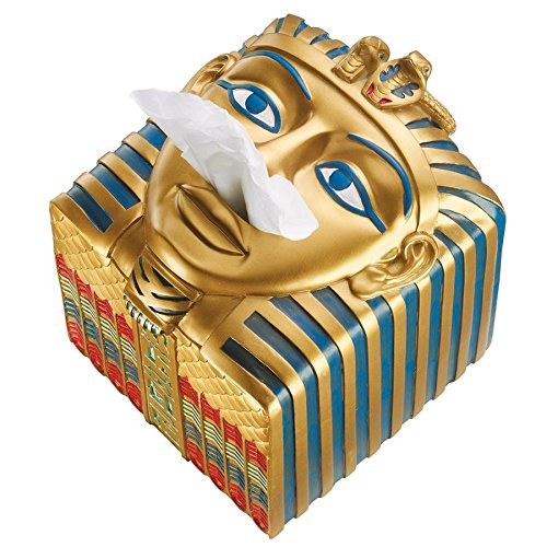 Design Toscano Tissue Box Cover - King Ah-Ah-Choo Egyptian Tissue Box Holder - Toilet Tissue Box from Design Toscano