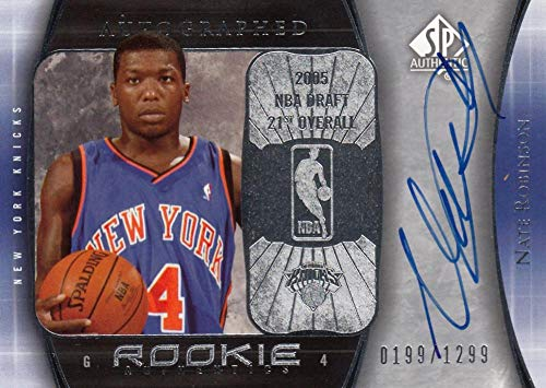 2005-06 SP Authentic RC Auto #115 Nate Robinson #115 NM Near Mint RC Rookie Auto 199/1299