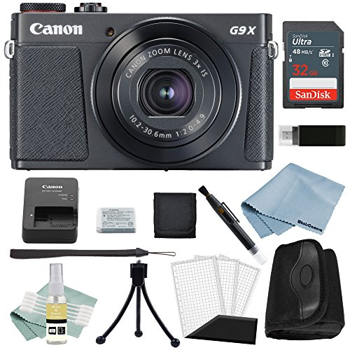 Canon G9x Mark II Digital Camera Bundle (Black) + Canon PowerShot G9 x Mark II Advanced Accessory Kit – Including EVERYTHING You Need To Get Started
