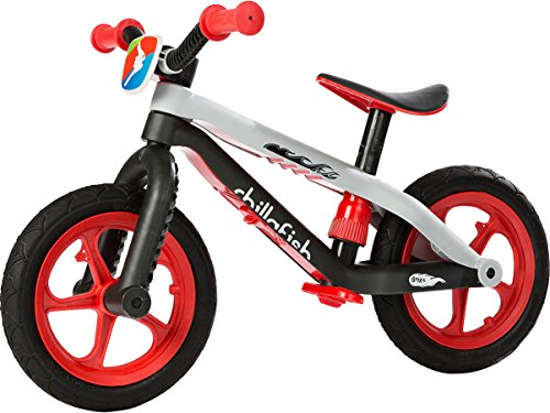 Find Discount Chillafish BMXie-RS: BMX Balance Bike with Airless RubberSkin Tires, Red (Light my Fir...