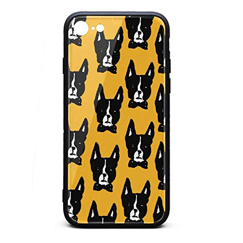 Boston Terrier Unique iPhone 8 Case,iPhone 7 Case Shock-Absorption Flexible Soft Rubber TPU Bumper/Anti-Finger/Anti-Scratch/Phone Case for iPhone 8 Case/iPhone 7 Case