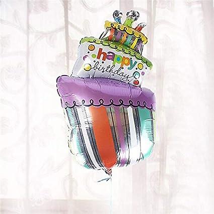 Amazon.com: 7 cumpleaños – 1 pieza feliz cumpleaños tartas ...