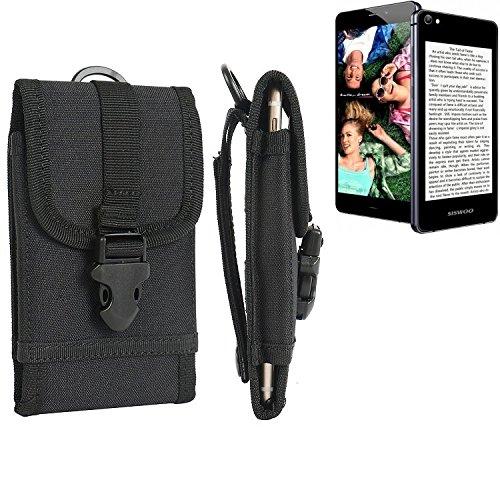 bolsa del cinturón / funda para Siswoo R9 Darkmoon, negro | caja del teléfono cubierta protectora bolso - K-S-Trade (TM)