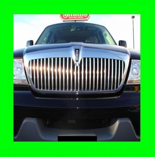 Upper 4 Piece Grille Grill - LINCOLN AVIATOR 2003-2005 CHROME GRILLE GRILL KIT 03 04 05 2004 LX LUXURY