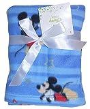 Disney Baby Blanket ** Plush Mickey Mouse & Stars 30