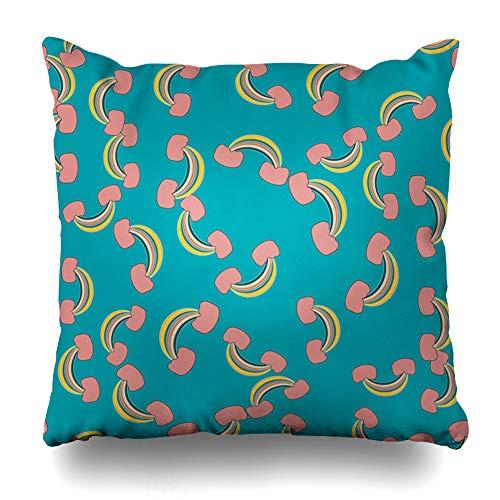 Suesoso Decorative Pillows Case 18 x 18 Inch Rainbow Interior Cute Abstract Kidsthrow Pillowcover Cushion Decorative Home Decor]()