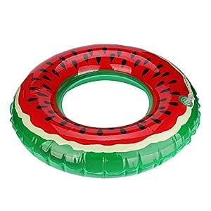 Covermason Hinchables Sandía Forma de Donuts Piscina Playa Flotador (Diámetro: 90cm)