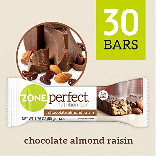 (	ZonePerfect Nutrition Snack Bars, Chocolate Almond Raisin. 1.76 oz, (30 Count) )