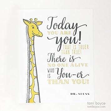 amazon com dr seuss today you are you giraffe inspirational