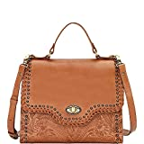 American West Hidalgo Top-Handle Convertible Flap Bag, Tan