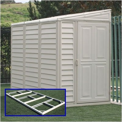 DuraMax Model 00614 4x8 SideMate Vinyl Storage Shed with foundation