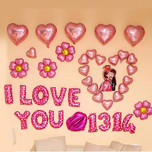 Birthday Party Hen Night Party Balloons Party Decorations Anniversary Celebrate Wedding Proposal Room Layout Gifts Boys, Girls and Children's Set Meals Rose ()