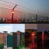 Solar Powered Sound Security Alarm Strobe Light, 6