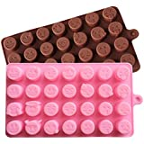 28 Emoji Expression Cake Mold Chocolate Candy Ice Baking Mould Random Color New
