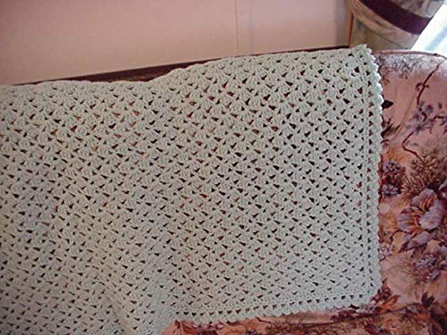 (Pale Green Shells Crocheted Afghan 49 Inches X 65)