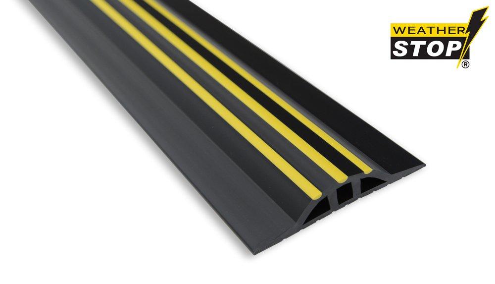 Weather Stop WS005-312 10.3-Inch x 25 mm High Garage Door Threshold Seal Kit - Black