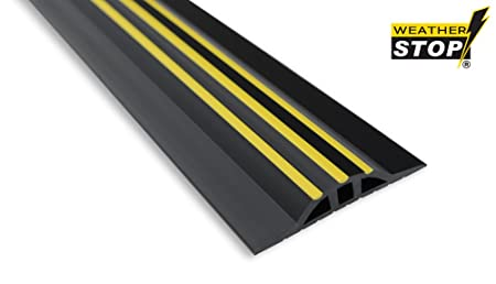 Weather Stop WS005-252 8.3-Inch x 25 mm High Garage Door Threshold Seal Kit-Black