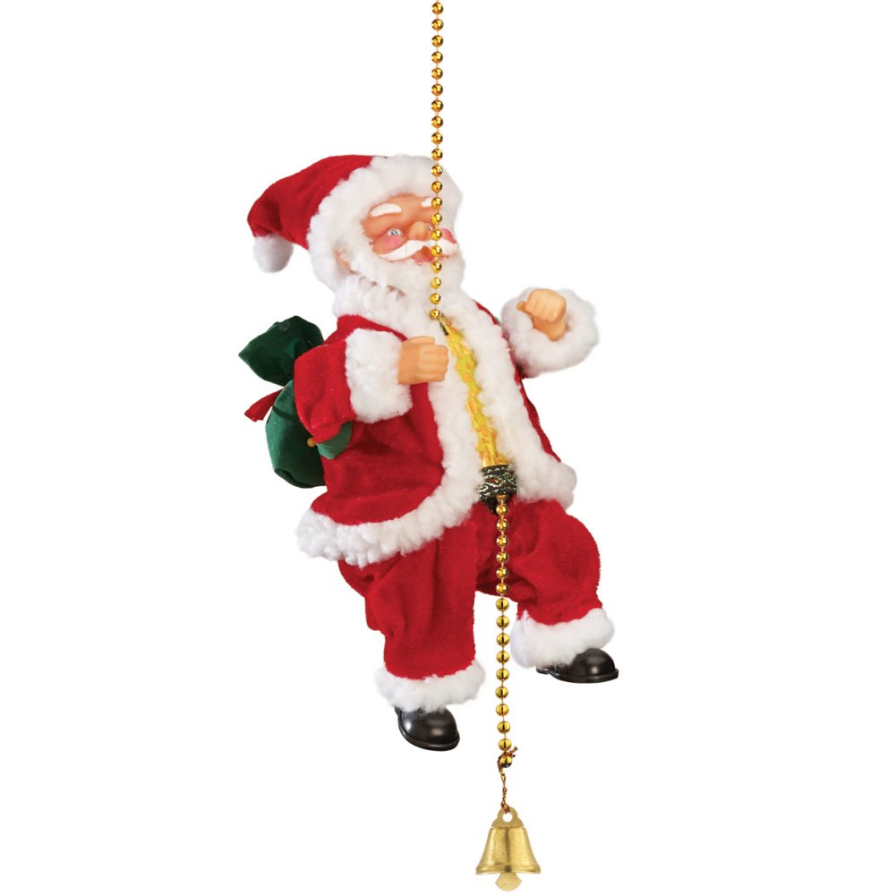 Amazon.com: Collections Etc Hanging Animated Musical Climbing Santa ...