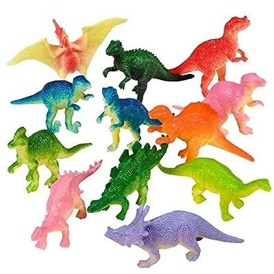 Rhode Island Novelty 2 Inch Mini Vinyl Dinosaurs 36 Pieces: Toys & Games