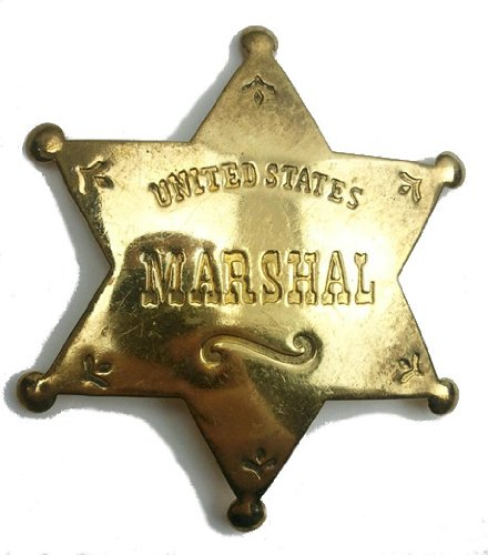 Costume Badge Solid Brass US Marshal Old West Prop (Costumes Us)