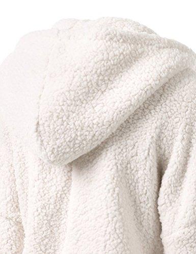 WanYang Chaqueta Con Capucha Mujeres Hooded Sweatshirt Sportswear Manga Larga Capucha Cazadora Jacket Top Blanco