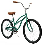 Critical Cycles Women's Beach Cruiser 1-Speed Bike, British Racing Green