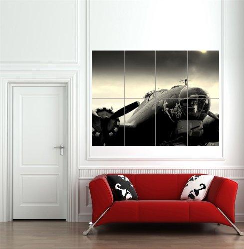 MEMPHIS BELLE VINTAGE AEROPLANE GIANT WALL ART PRINT HOME DECOR POSTER
