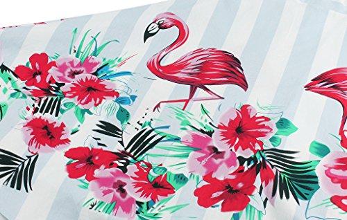 Mangas Vintage Flamingo Vestido Cap Rockabilly 1950S DRT019 Lunares Baile COUPLE FAIRY de ExPYwRqfn