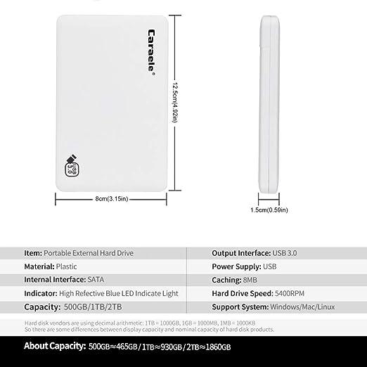 KESOTO ハードディスク 外付けHDD ポータブル 高速 USB 3.0 モバイルディスク 2TB/1TB/500GB 超スリム - 500GB