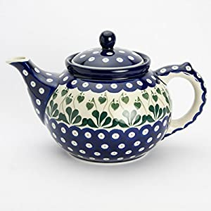 Polish Pottery Large Teapot – Love Leaf – 6 Cup