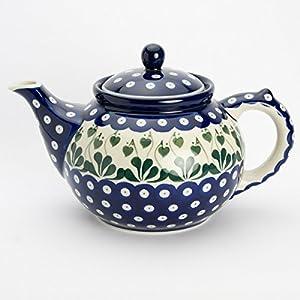 Polish Pottery Large Teapot – Love Leaf – 6 Cup