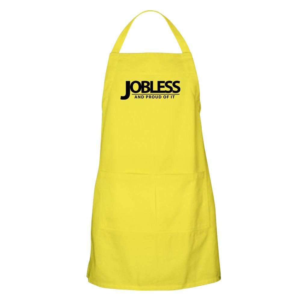CafePress Jobless BBQエプロン グリルエプロン イエロー 002098466229A30  レモン B073V7W8DN