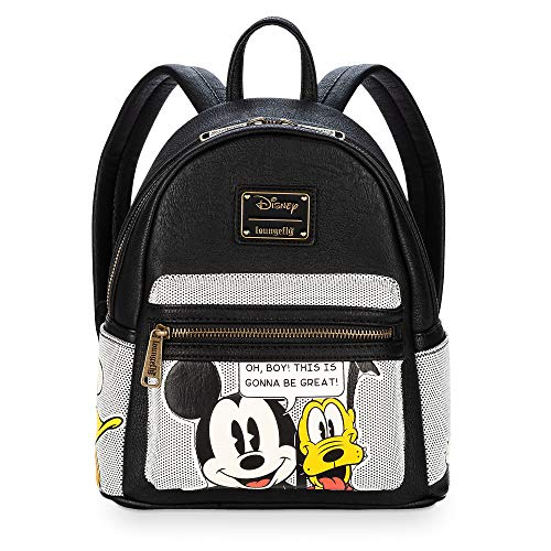 Disney Mickey Mouse and Friends Mini Backpack by Loungefly Black