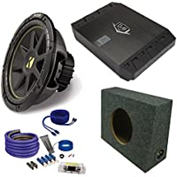 Kicker 10 Comp Subwoofer DUBa2100 200 Watt Amp wire kit Truck enclosure package
