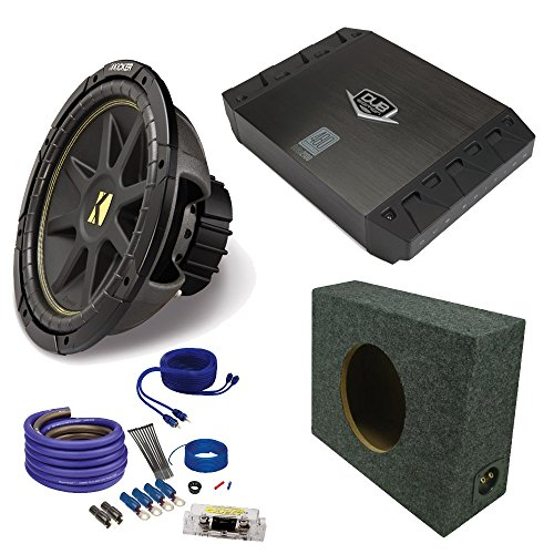 "Kicker 10"" Comp Subwoofer DUBa2100 200 Watt Amp wire kit ..."