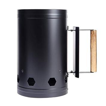 Monllack Portátil de Camping al Aire Libre de Picnic Estufa de leña para encender carbón de leña Estufa de carbón de Arranque de la Barbacoa del Barril de ...