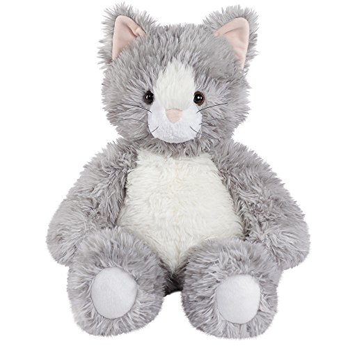 Vermont Teddy Bear Oh So Soft Kitty Cat Stuffed Animals Plush Toy, Gray, 18