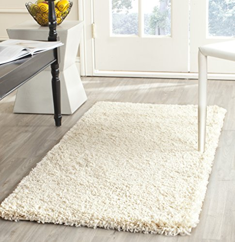Safavieh California Shag Collection 84 X 27 Area Rug, Ivory
