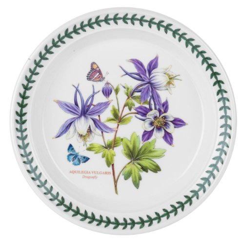 English Garden Salad Plate - Portmeirion Exotic Botanic Garden Salad Plate with Dragonfly Motif