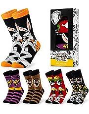 LOONEY TUNES Herensokken, 5 stuks, kleurrijke sokken, grappige sokken, 39-44