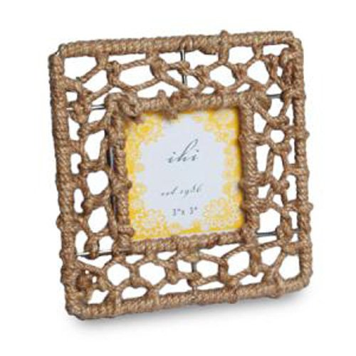 India Handicrafts IHI Nautical Rope Tabletop Photo Frame