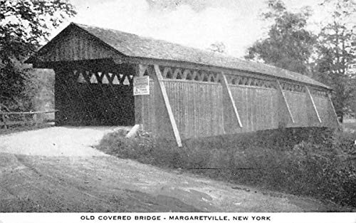Old Covered Bridge Margaretville, New York Postcard