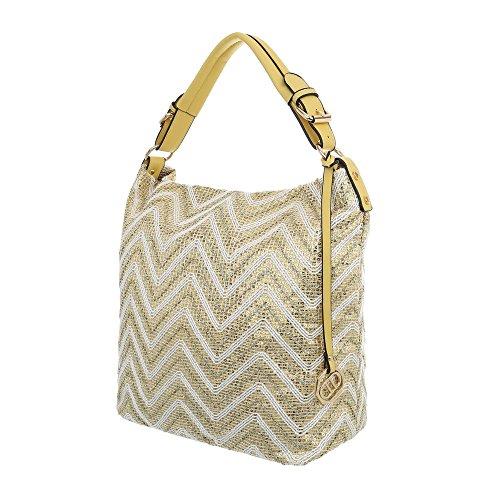 à pour femme Design Sac Gold l'épaule Ital porter Gelb à xHqSwAPEPY