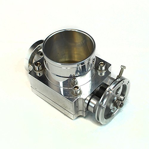 Universal Fit Upgrade Aluminum Fit 70mm Throttle Body w/ Adaptor Plate ( Will Work with Cable Drive Only ) ()