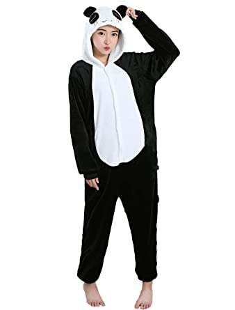 50248f21ce65 PIN Panda Costume Halloween Cosplay Kigurumi Onesie Adult Unisex Animal  Pajamas Lounge Wear Sleepsuit  Clothing