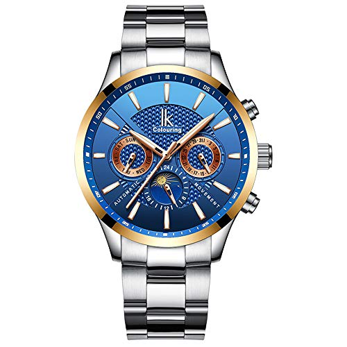 Mens Watch,Stone Automatic Watch Business Casual Classy Analog Wrist Watch with Stainless Steel